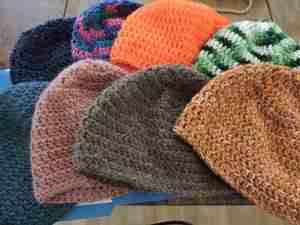 Handmade Christmas crocheted hats