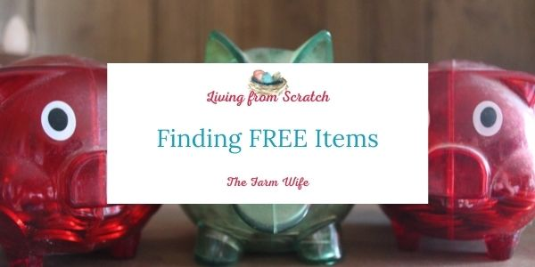 finding free items