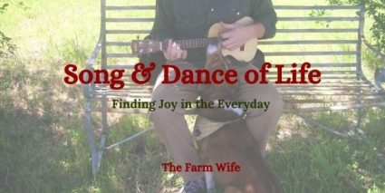 song and dance with a dog intently listening