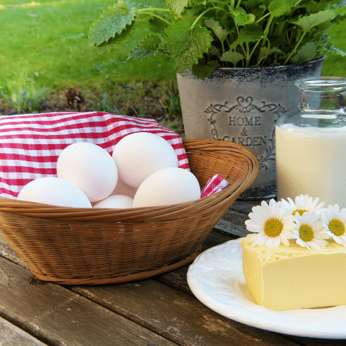 butter and eggs as bartering items