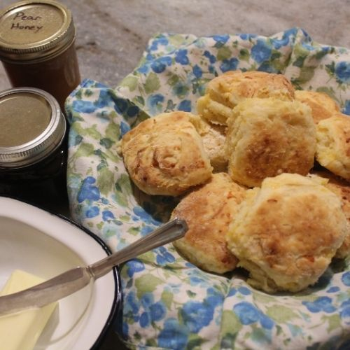 fresh made biscuits