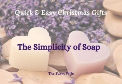 an easy christmas gift of heart shaped handmade soap