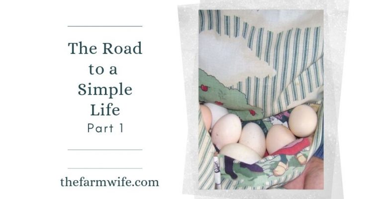 The Road to a Simple Life – Part One