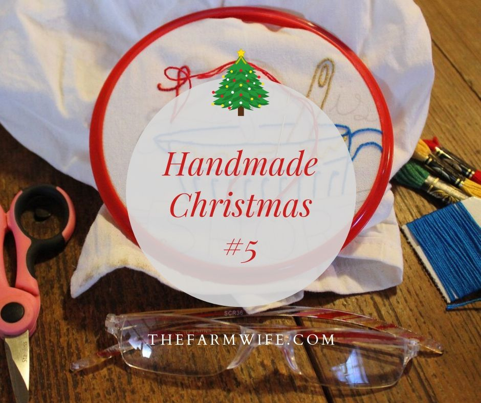 Handmade Christmas #5 - embroidered dishtowels