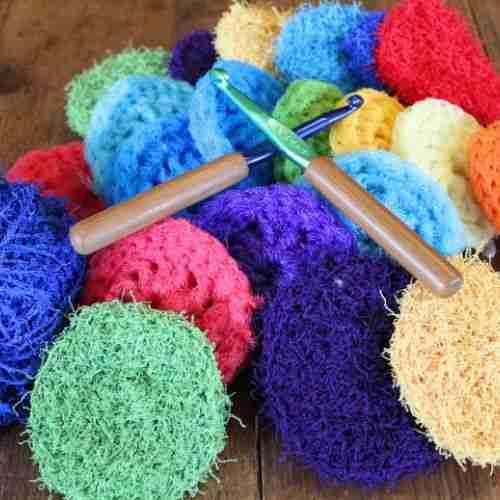 Handmde dish scrubbers