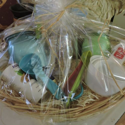 Gift basket filled with homemade goodies