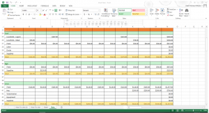 Income and Expense Spreadsheet for Homesteaders and Small Farms Example Page