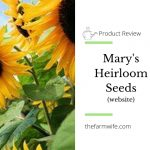 Mary's Heirloom Seeds