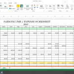 Homesteading Income & Expense Spreadsheet