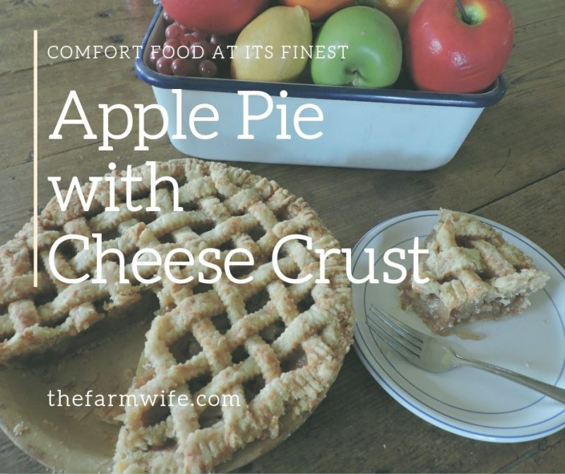 apple pie with cheese crust