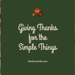 Giving Thanks for the Simple Things