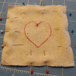 Pinning fabric together