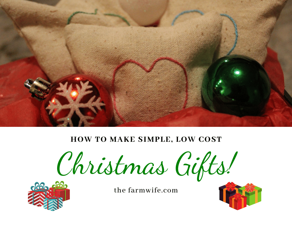 Simple Low Cost Christmas Gifts