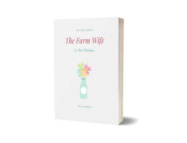 The Farm Wife in the Kitchen Cookbook Cover Mockup