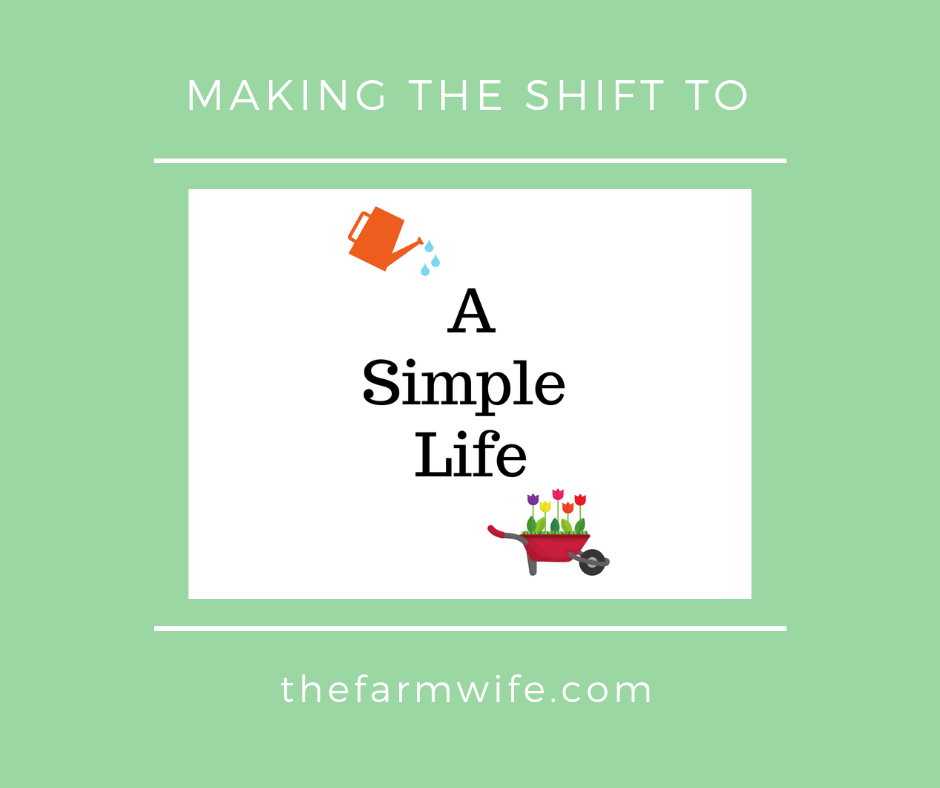 Making the Shift to a Simple Life
