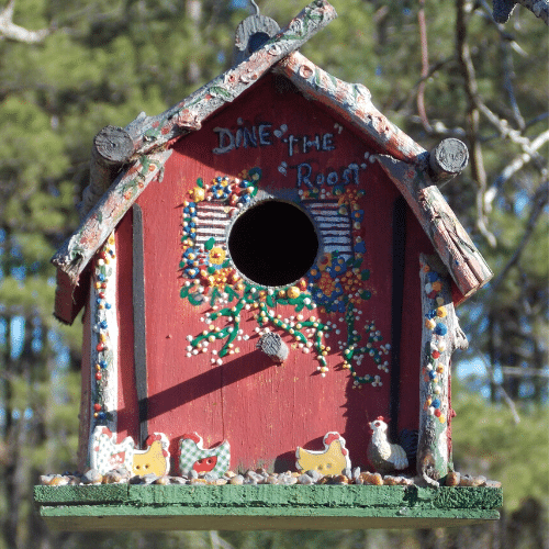 a birdhouse helps keep feathered friends happy year round