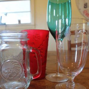 Simple Holiday Table - Glassware
