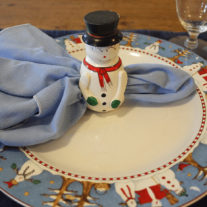 Simple Holiday Table - Placesetting