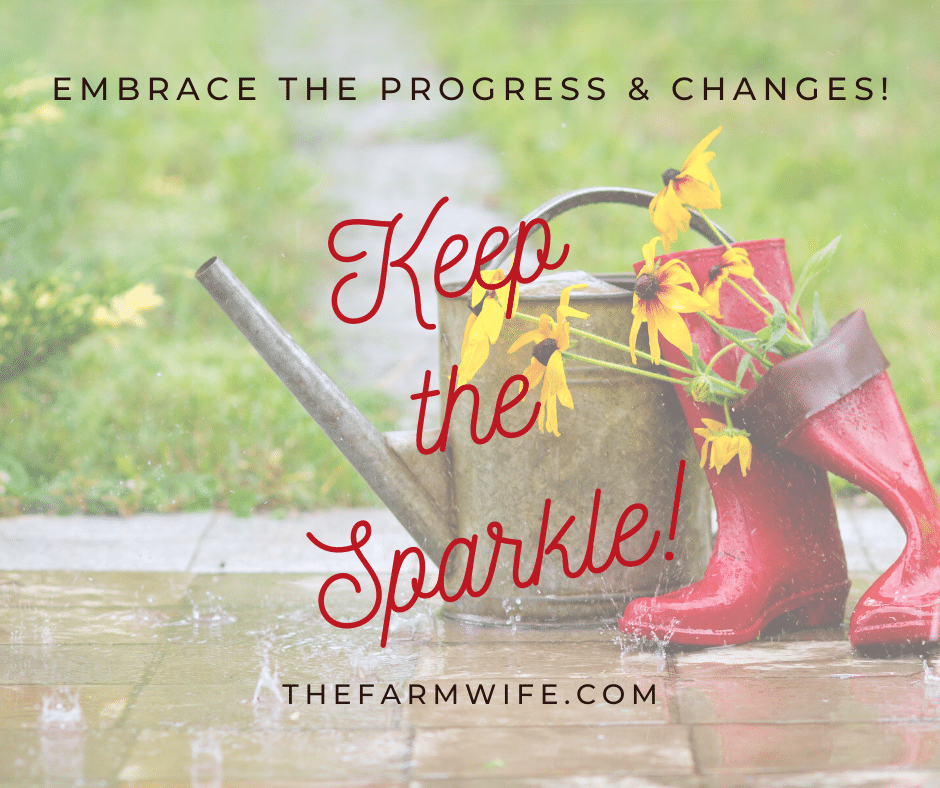 Keep the sparkle while embracing the progress and changes