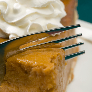 Pumpkin Pie for National Pie Day