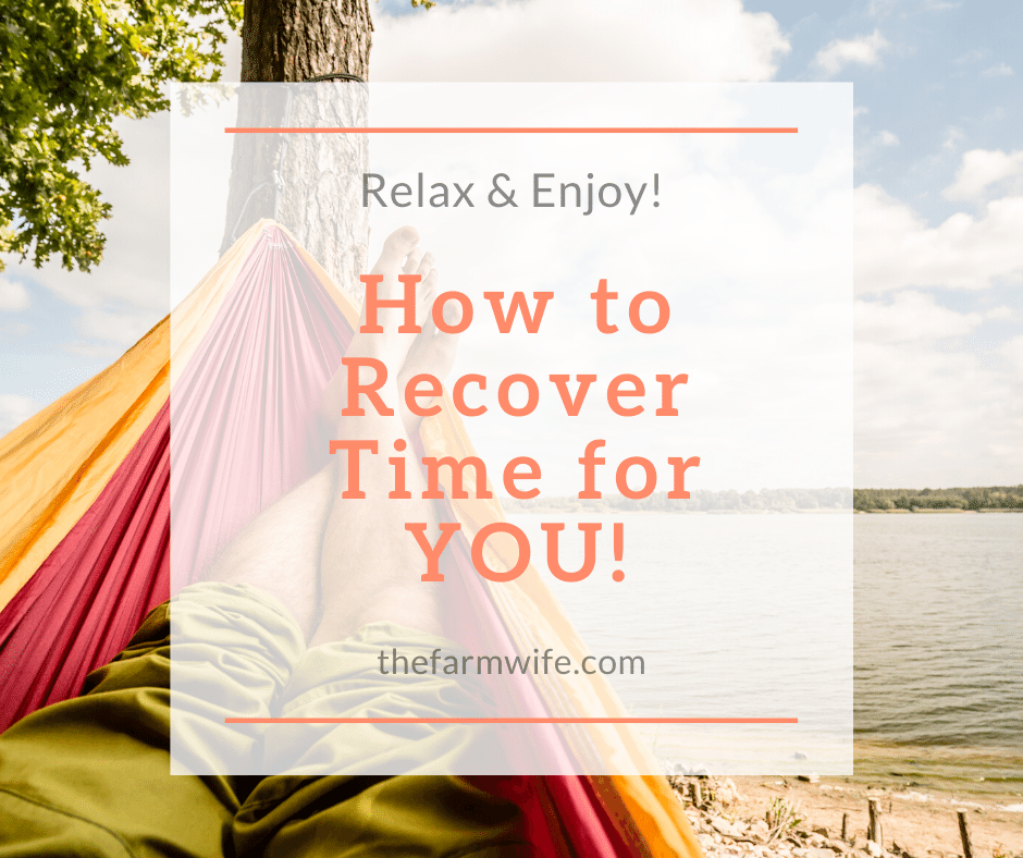 Relax Enjoy Recover Time for You