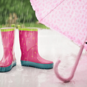 Keep the Sparkle with Pink Boots and an Umbrella