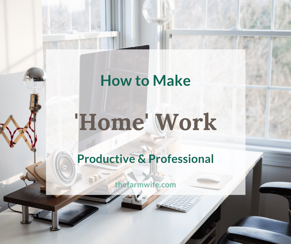 How to be Productive and Professional when working from home