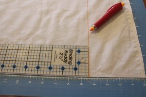 measure and mark your fabric before cutting