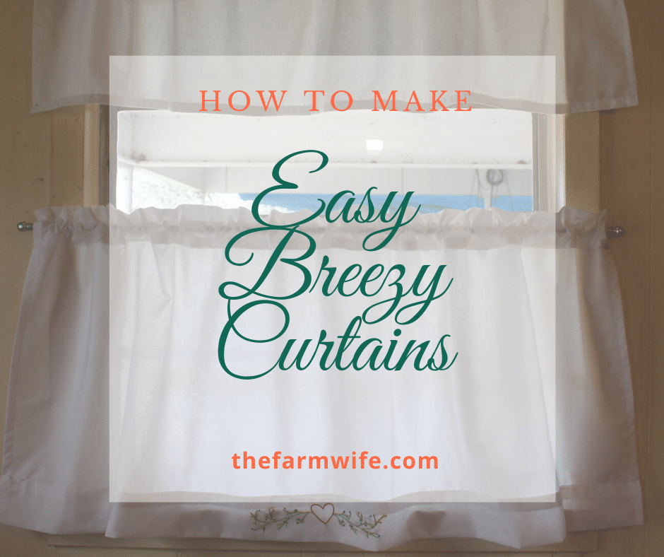 Easy breezy curtains to make