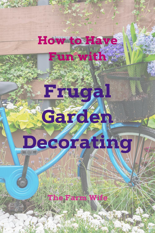 frugal garden decorating