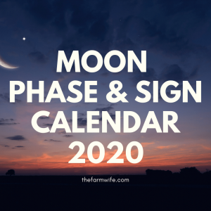 Gardening with the Moon Calendar
