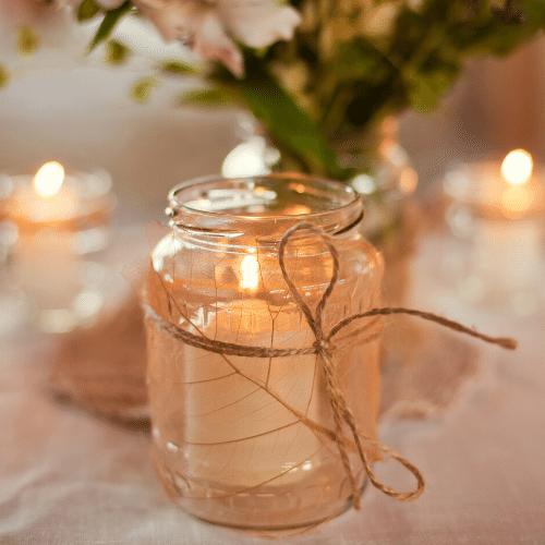 light your garden with frugal garden decorating