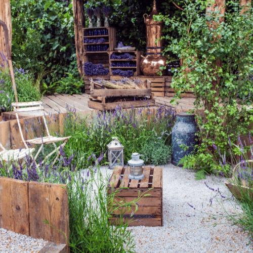 A quiet garden sanctuary