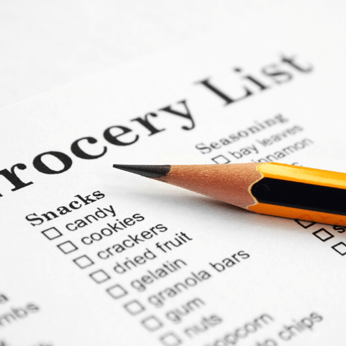use a list to streamline your grocery shopping