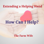 Extending a Helping Hand - How Can I Help?