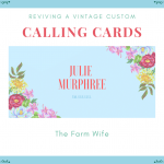 Reviving a VIntage Custom - Calling Cards
