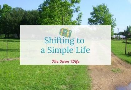 shifting to a simple life