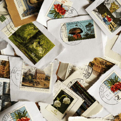 Stamps for penpal letters
