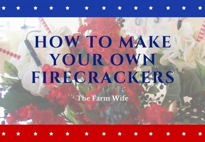 How to make your own fabric firecrackers