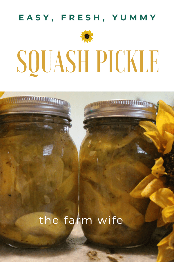 Squash Pickle - Easy, Fresh, Yummy!