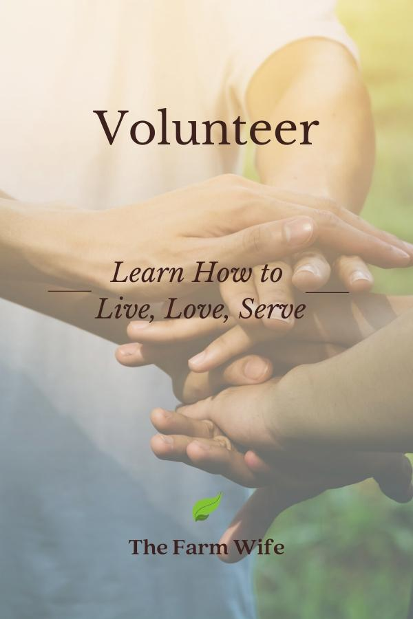 Volunteer = Learn How to Live, Love, Serve
