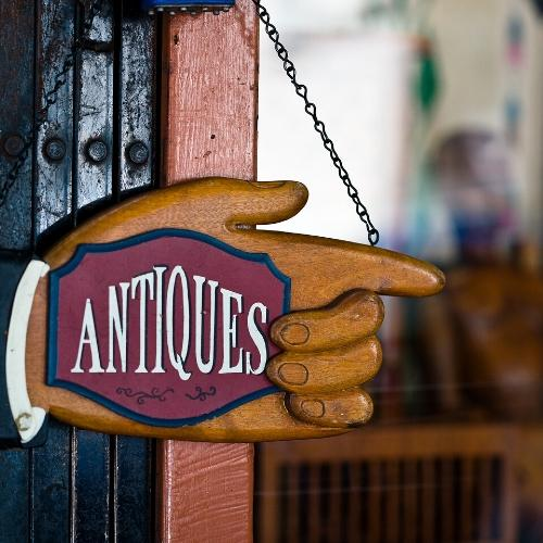 go antiquing during a stay-cation