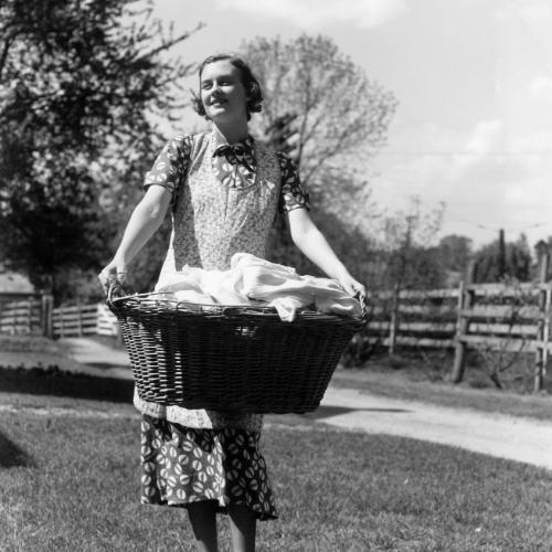 The chores of a 1940's woman