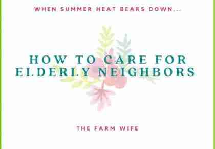 How to care for elderly neighbors
