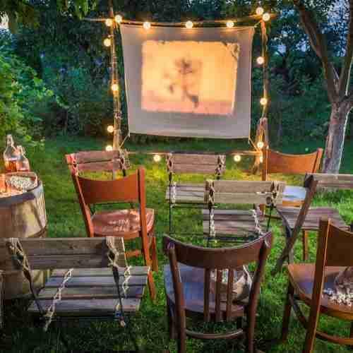 hve an outdoor movie night