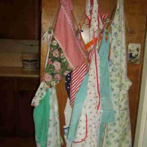 an assortment of aprons
