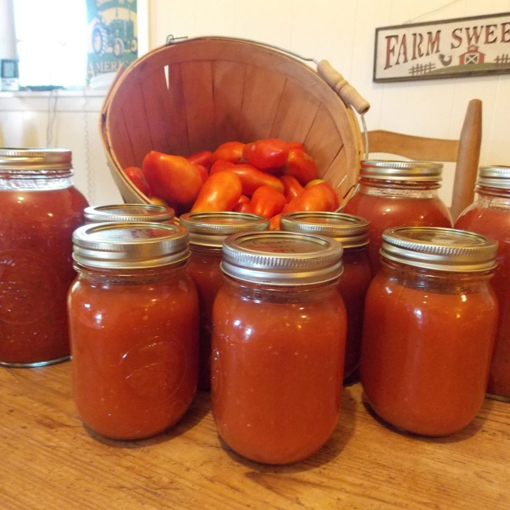 share jars of tomato sauce with your party guests