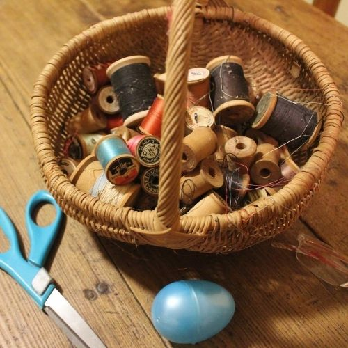 a sewing basket for a simple life
