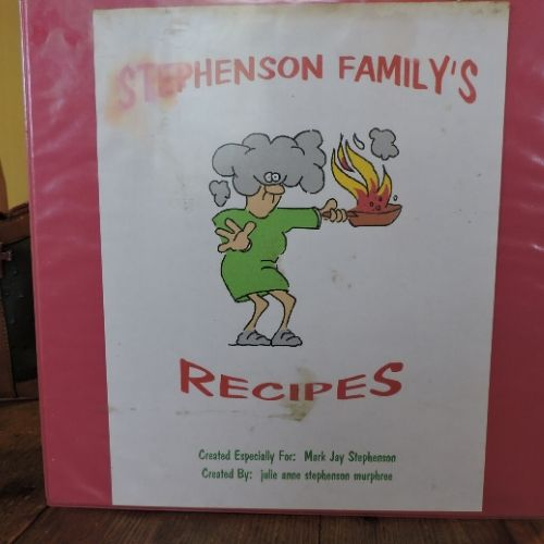 a family cookbook cover page