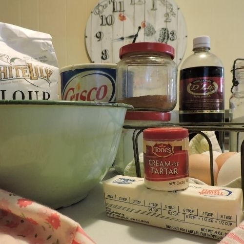 baking ingredients for cookies